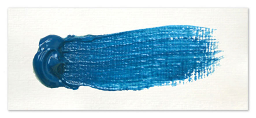 Langridge-Handmade-Oil-Colour-Cerulean-Blue-Chrom-Paintout
