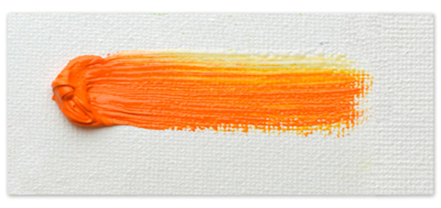 Langridge-Handmade-Oil-Colour-Neon_Orange_Paintout