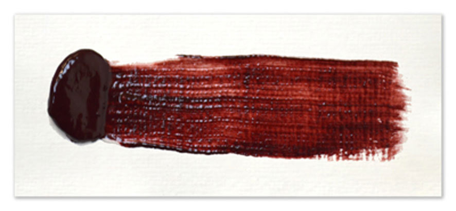 Langridge-Handmade-Oil-Colour-Perylene-Crimson-Paintout