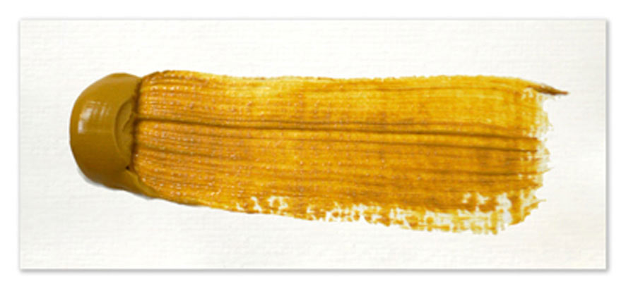 Langridge-Handmade-Oil-Colour-Yellow-Ochre-Paintout
